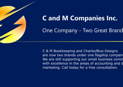 banner for new company name: c and m companies inc