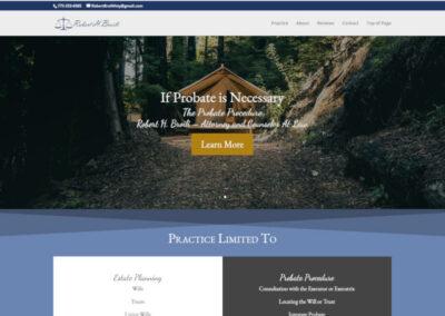Large screenshot website design by CharleyBlue Designs