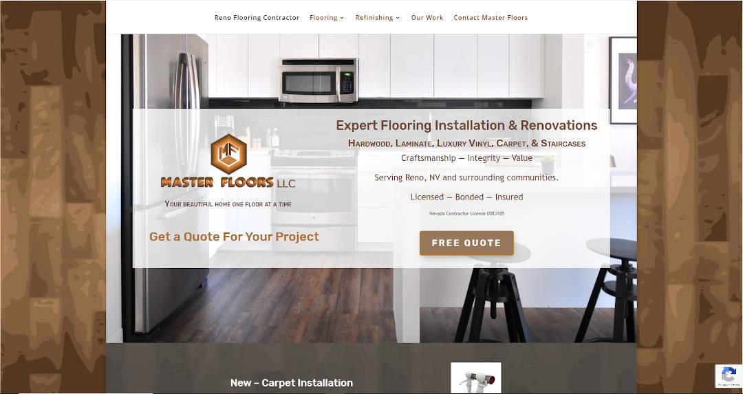 masterfloors-reno.com home page