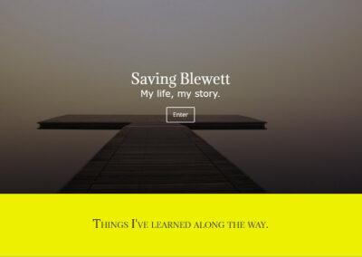 Large screenshot website designed by CharleyBlue Designs