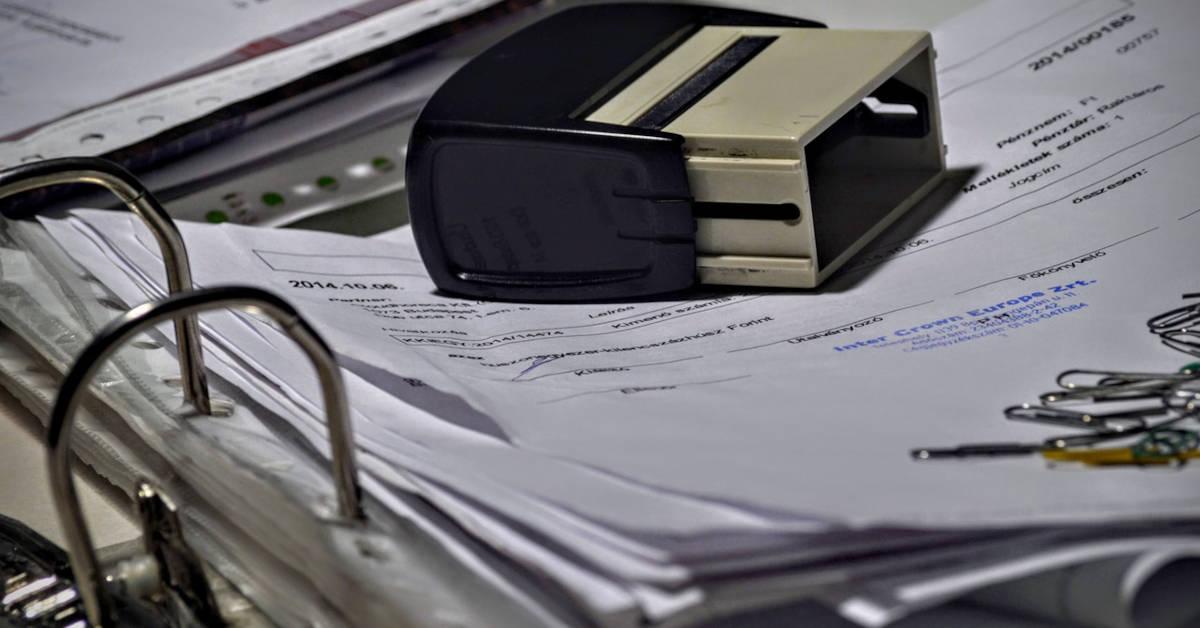 Receipts in a binder