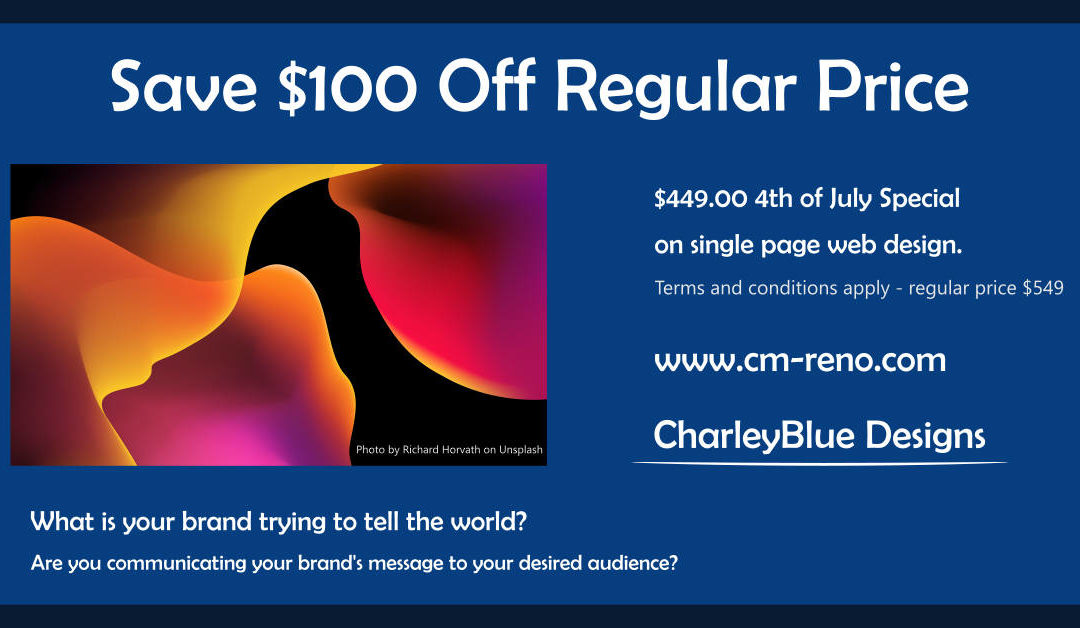 Save $100 on Web Design