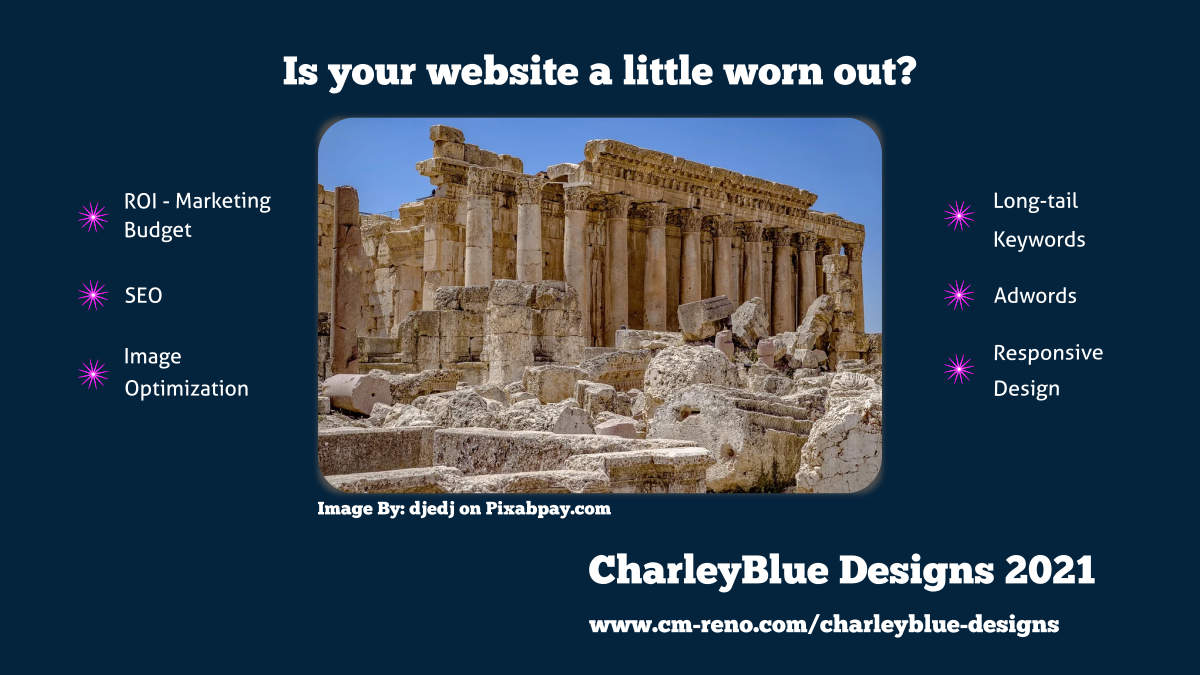 CharleyBlue Designs SEO and web design services
